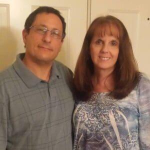 Brett Goldstein with wife photo