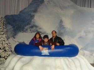 Brett Goldstein with family
