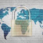 Advanced malware threats blog post image of map and lock
