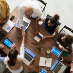 IT Strategy Meeting Handshake